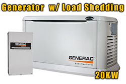 Generac Generator Installation with Load Shedding